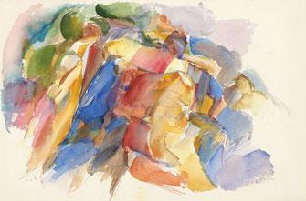 """Leopold Ganzer, """"Thaler Landschaft"""", 32,5 x 48 cm"""