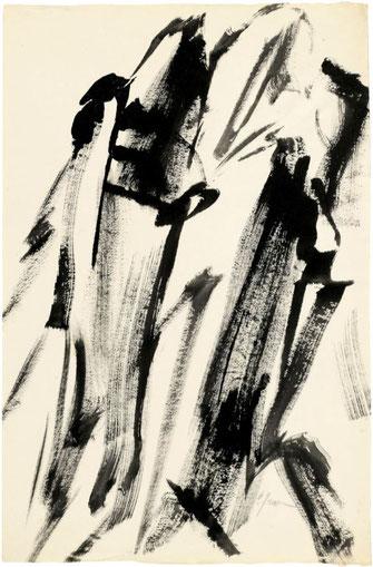 """Leopold Ganzer, """"02-84-25"""", 1984, Tusche auf Papier, 62 x 40,5 cm"""