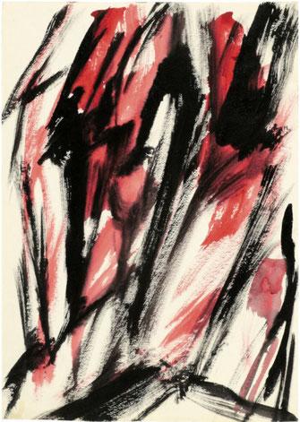 """Leopold Ganzer, """"02-84-29"""", 1984, Mischtechnik auf Papier, 57 x 40,5 cm"""