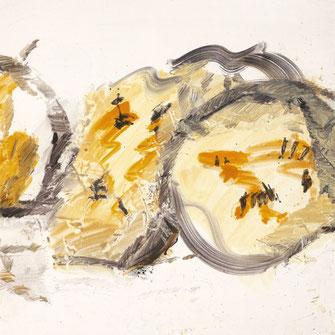 Josef Mikl, 1976, ohne Titel, Mischtechnik auf Papier, 78,5 x 62 cm