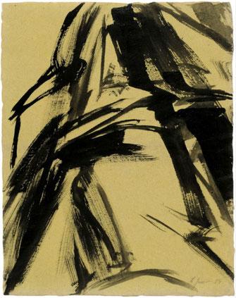 """Leopold Ganzer, """"01-84-08"""", 1984, Tusche auf Papier, 52 x 40,5 cm"""