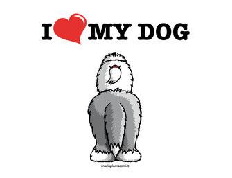alt-img-disegno-bobtail-in-piedi-da-dietro-illustrazione-old-english-sheepdog-tshirt-shopper