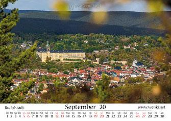 Heidecksburg in Rudolstadt, Heimat ist Rudolstadt, Kalender, Thüringen, Wenki