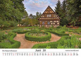 Bauernhäuser in Rudolstadt, Heimat ist Rudolstadt, Kalender, Thüringen