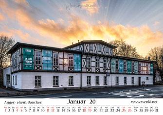 Theater in Rudolstadt, im Kalender Heimat ist Rudolstadt, Thüringen