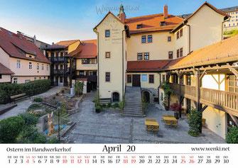 Handwerkerhof in Rudolstadt, im KAlender Heimat ist Rudolstadt, Thürigen, Heidecksburg