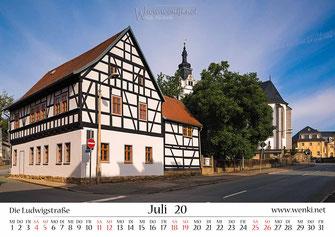 Wenki, Fachwerkhaus in Rudolstadt, Heimat ist Rudolstadt, Kalender, Thüringen