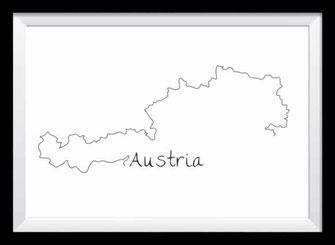 Typografie Poster, Typografie Print Lifestyle - Austria - nonoyes