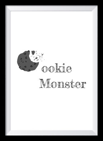 Typografie Poster Lifestyle, Cookie Monster