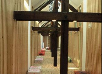Les couloirs de l'auberge © Celica Hostel