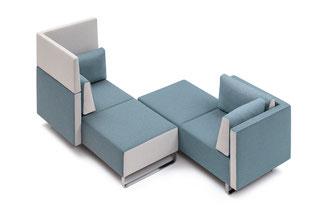 Sedus sopha, modulares Loungesystem, Zweifarbigkeit, beliebige Anordnung