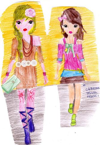 Caterina, Tisha, Francesca classe quinta