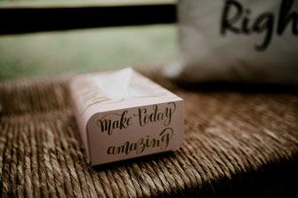 Freie Trauung in Tiste beim Klostergut Burg Sittensen mit fotografin Vanessa Teichmann Samuelsen und der rednerin Jasmin Rathke von Trauzucker aus Hamburg. Sommer 2018 Hochzeit Vintage Wedding Wegweiser Schilder taschentuch box rosa