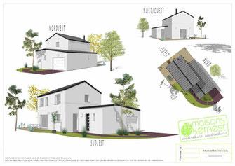 maison à étage et toiture en zinc