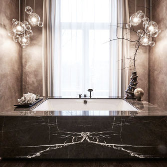 Luxe marmer badkamer design by eric kuster
