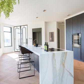 Calacatta Borghini marble kitchen
