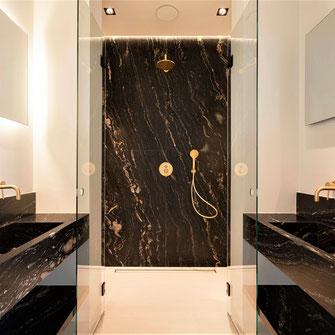 Black granite bathroom