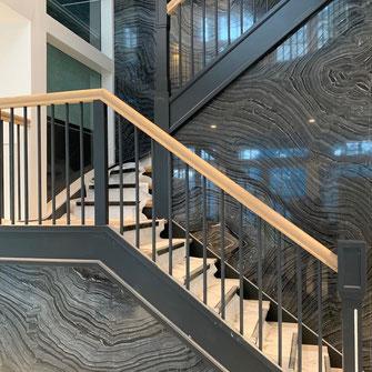 Silver wave granite stairway