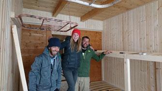 Wir hatten viel tolle Hilfe, hier von Sarah & Christian - Maximundo, die unser Interior gestaltet haben...