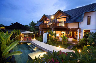 Twin villas for sale located in central Ubud.