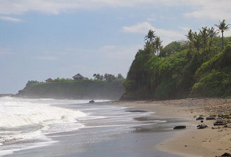 West Bali, beachfront villa for sale.