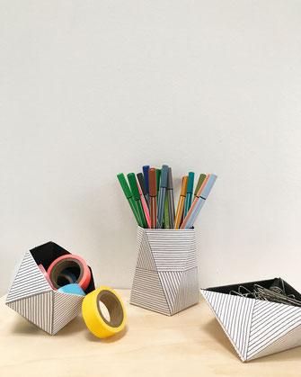 Décoration ikken - Boites origami Lignes