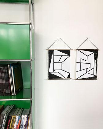 Décoration - ikken affiches Archi-in & out - noir