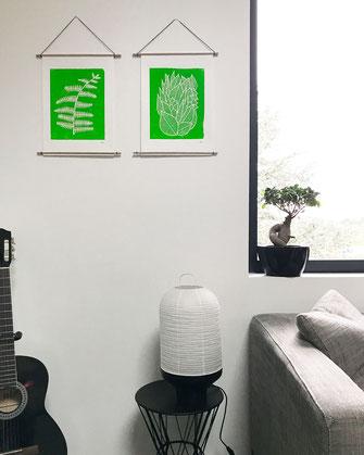 Décoration ikken - Affiches Feuilles & Fougère