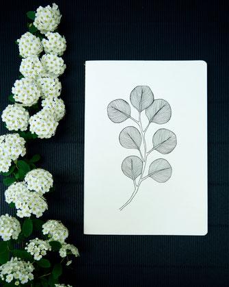 Papeterie ikken - Cahier Eucalyptus