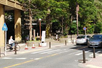 信号機設置予定の市役所前横断歩道