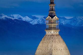 La Mole Antonelliana e le Alpi