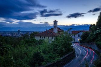 Torino fotografie con scorci delle montagne e delle colline della città