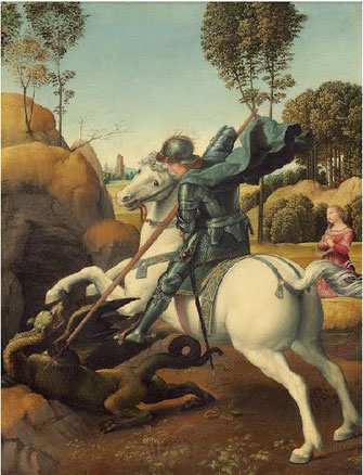 Raphaël, Saint Georges et le dragon /© National Gallery of Art, Washington
