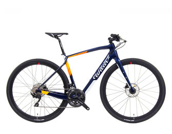 JENA HYBRID COMMUTER Y8 BLUE / ORANGE, GLOSSY