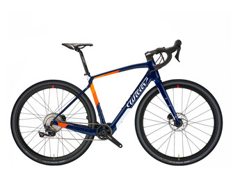 JENA HYBRID Y8 BLUE / ORANGE, GLOSSY