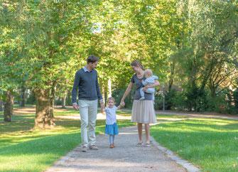 Familienfotos im Freien - Eppendorfer Park