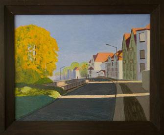 Mürwiker Straße, Öl auf Leinwand, 1996