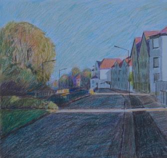 Mürwiker Straße, Buntstiftskizze, 1996