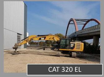 Bild vom Bagger CAT 320 EL