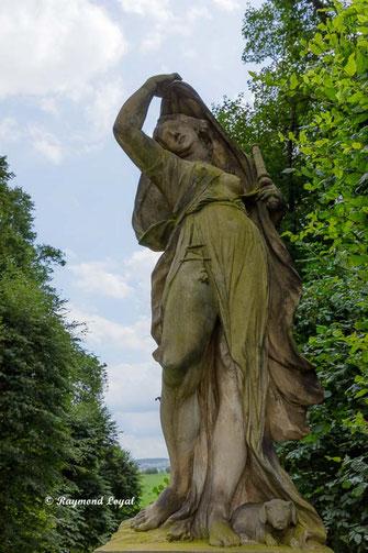 sculpture baroque garden at gross-sedlitz saxony