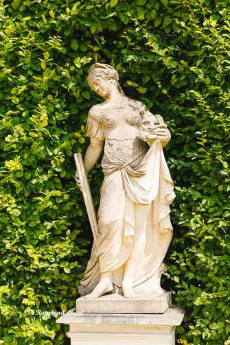 skulptur schlossgarten gross sedlitz melpomene
