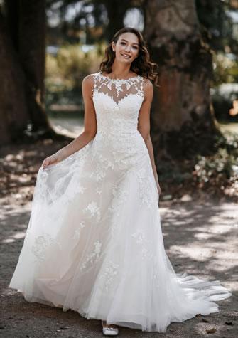 Brautkleid, Hochzeitskleid in Etui-Form