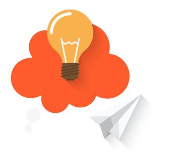 Idee Glühbirne Cloud