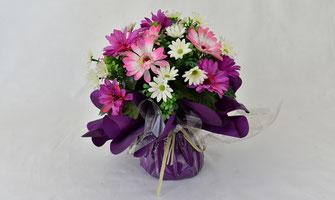 bouquet-bulle-fleurs-artificielles-ceremonie-religieuse-enterrement