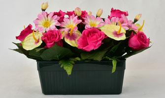 jardiniere-fleurs-artificielles-composition-florale-marbrerie-orangeoise