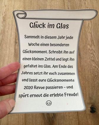 Glück im Glas