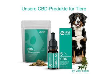 CBD Produkte für Hunde by HempMate Vertriebspartner Vital Team
