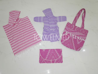 Bathrobes, beach ponchos & bags