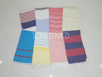 Flat turkish pestemal towels