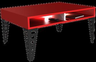 pied de table basse Design couleur noir